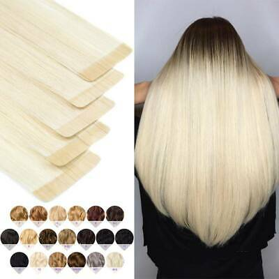 THICK Russian Tape In 100% Human Remy Hair Extensions Skin Weft Body Wave C843 • 12.60£