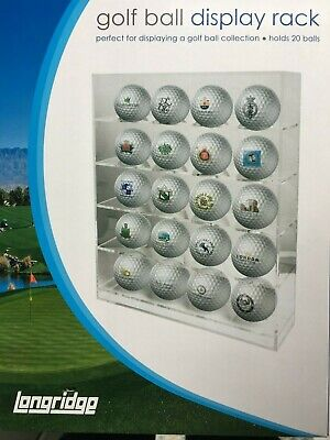 Golf Ball Display Case - Perspex - Holds 20 Balls • 22.99£