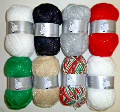 Woolyhippo Dazzle DK Glitter Yarn Acrylic Polyester Double Knitting 100g Wool  • 3.99£