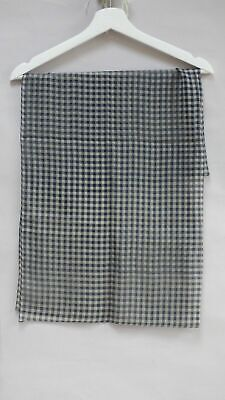 £5.99 • Buy Tie Rack The Art Of Scarf Gingham Check Square 78 X 78 Cm Scarf Shawl Italy Made