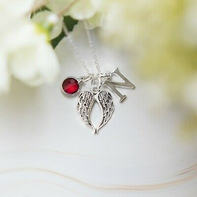 Angel Wing Necklace, Personalised Gifts, Women's Jewellery, Guardian Angels • 8.50£