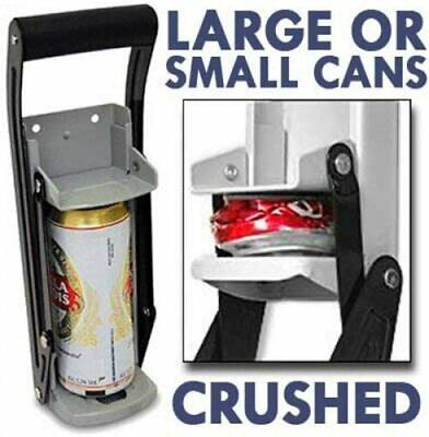 16oz Large Beer Tin Can Crusher Wall Mounted Recycling Tool Bottle Opener 500ml • 8.95£