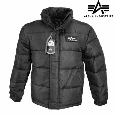 £69.90 • Buy Puffer Jacket Alpha Industries US Flight Down Insulated Parka Padded Coat Black