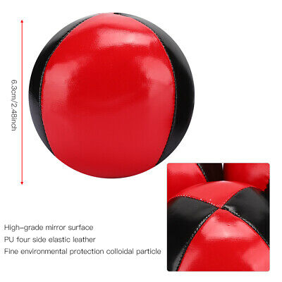 AU22.22 • Buy 3pcs Juggling Balls Hand Throw Indoor Leisure Sports Ball Durable Red PU Leather