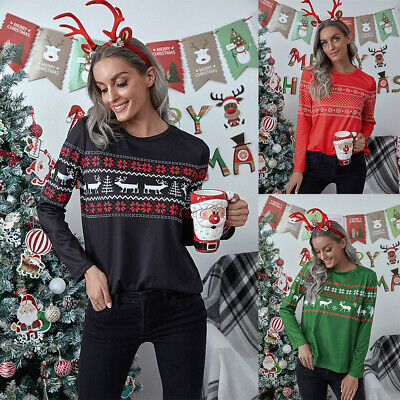 £13.21 • Buy Women Christmas Party Tops Ladies Long Sleeve Blouse T-Shirts Party Xmas Tee