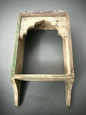 Antique Vintage Indian Display Unit. Mughal Arch. Distressed Cappuccino .  • 49.95£