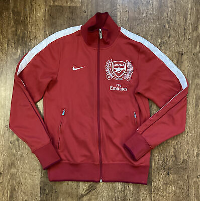 Nike Arsenal Official Genuine Track Jacket S Red Spellout  • 19.99£