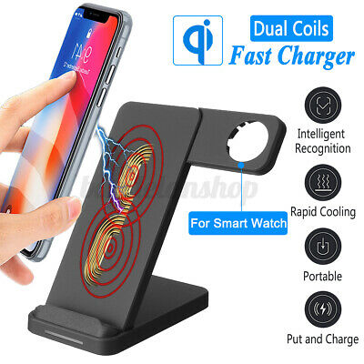 $ CDN21.02 • Buy 2in1 Fast Charger Qi Wireless Charging Dock Phone Stand For IPhone Apple Watch