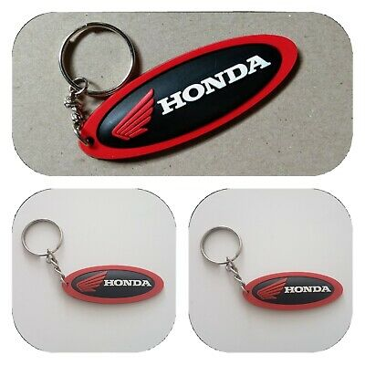 £4.90 • Buy 1 Honda Keychain Rubber Black Oval Motorcycle Racing Keyring Collectables Gift
