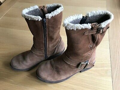 Superfit Girls Fur Lined Side Zip Gore-tex Brown Boots Size Euro 33/uk 1 • 9.50£
