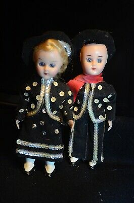 £14.99 • Buy  Doll - With Blinking Eyes - Vintage Pair Of Cultural Traditional Dolls 1970's