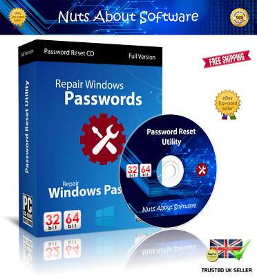 Windows Xp, Vista, 7, 8 , 10 Password Recovery Reset Remove Recover Cd Dvd • 3.95£