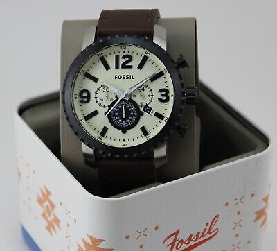 $ CDN113.62 • Buy New Authentic Fossil Gage Chronograph Black Brown Leather Men's Bq1712 Watch
