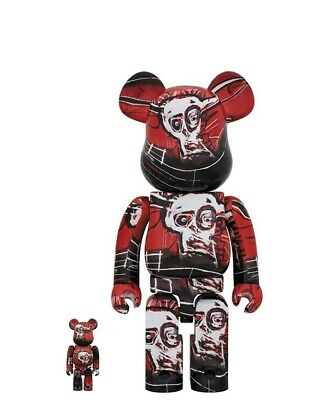 $259 • Buy Medicom BE@RBRICK JEAN-MICHEL BASQUIAT #5 100% + 400% Bearbrick New Unopen