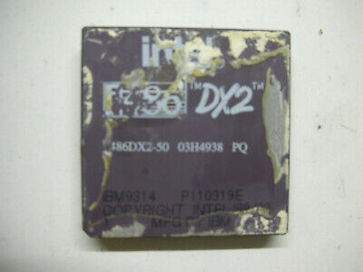AU34.47 • Buy CPU Vintage Processor Intel 486 DX2 486DX2-50 Socket 168 IBM9314 Rare Retro PC