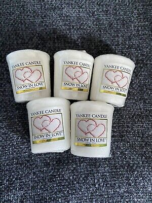 5 Brand New Yankee Candle 'Snow In Love' Votives • 15£