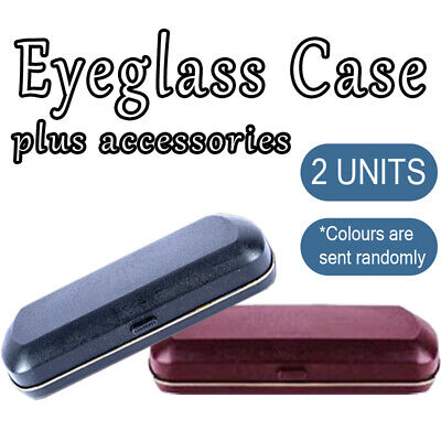 AU15.89 • Buy 2x Eye Glasses Case Student Hard Box Holder Protector Container Sunglasses