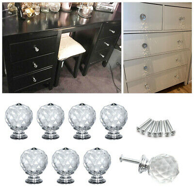 8 Clear Rhinestone Crystal Cabinet Drawer Handle Pull Knob For Furniture Door • 10.09£