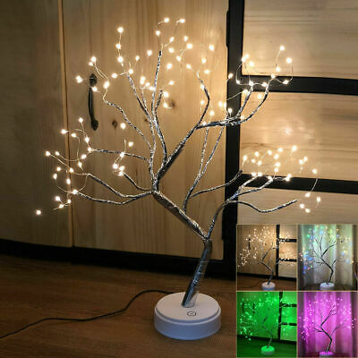 108LED Table-Lamp Fire Tree Night Light Indoor Portable Decor Fairy Light Gift • 11.95£