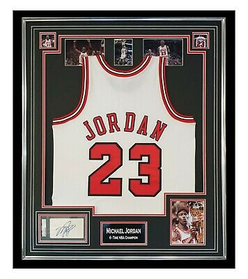 AU36117.26 • Buy Signed Michael Jordan Jersey - Framed Display - 6 Time NBA Champion PSA DNA +COA