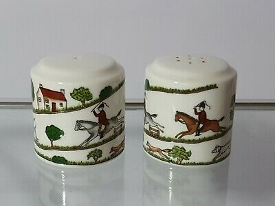 Coalport Hunting Scene Salt & Pepper Cruet Set • 14.90£