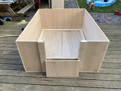 "Whelping Box 60""x48""x24"" With Rails + FREE Next Day Delivery • 200£"