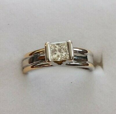 AU6500 • Buy 18Kt Gold NATURAL Diamond Solitaire Engagement Ring With Certification Size 6