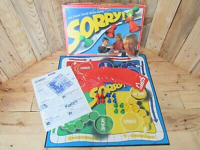 SORRY! Classic Fun Family Board Game Vintage Waddingtons 1990's Complete Age 5+ • 14.50£