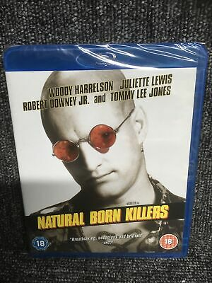 Blu Ray NATURAL BORN KILLERS. Woody Harrelson. Region Free. New Sealed. Freepost • 5.95£