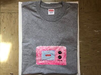 $ CDN106.94 • Buy NWT Supreme TV Tee Grey Large SS18 In Hand 100% AUTHENTIC T-Shirt Gray