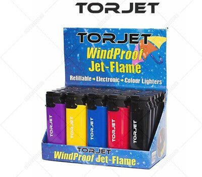 £1.95 • Buy TORJET JET FLAME WINDPROOF ELECTRONIC Jetflame LIGHTERS Free Delivery