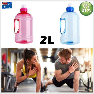 AU12.50 • Buy Water Bottle 2 Litre BPA Free Gym Fitness Sports Training Workout Drink Kettle