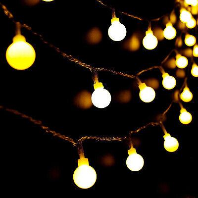 Mains Plug-in Fairy Globe Ball Lights 100/200 LED String Light Indoor & Outdoor  • 11.82£