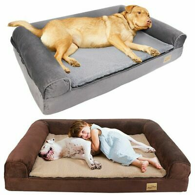 AU55.93 • Buy Jumbo XXL Memory Foam Dog Bed Pet Cuddler Couch Lounge Waterproof Washable Cover