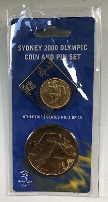 Sydney 2000 Olympic Coin And Pin Set - #2 Athletics • 4.99£