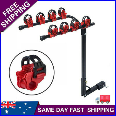 AU75.93 • Buy 4 Bicycles Bike Rack Carrier For Car Rear Towbar 2 Inch Hitch Mount