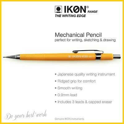 Mechanical Pencil 0.9mm HB Lead Automatic K89 Drafting,Sketching,Drawing,Writing • 3£