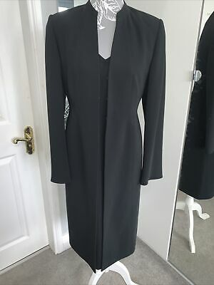 Ladies Planet Tailored Dress And Jacket Black UK Size 8 • 29.99£
