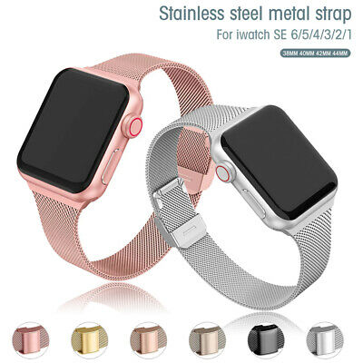 AU11.43 • Buy Milanese Loop Band Iwatch Strap For Apple Watch Series 6 5 4 3 2 1 38 42 40 44mm