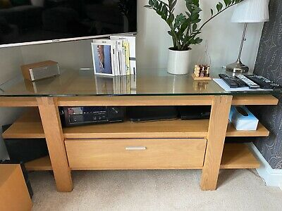 £150 • Buy Solid Wood John Lewis Entertainment System With Cupboard And Sideboard