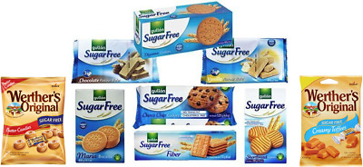 Diabetic Hamper Sugar Free Biscuits & Sweets, 9 Items - Ideal Gifting Box. • 11.95£