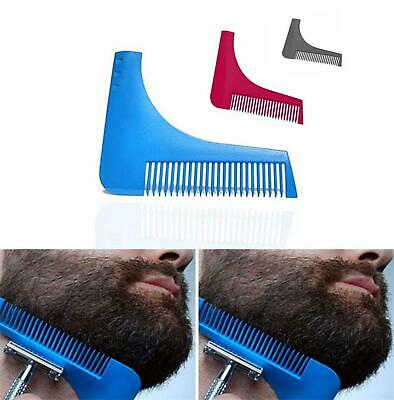 BEARD SHAPING TOOL - Template, Shaper, Stencil, Symmetry, Trimming, Comb, Barber • 1.79£