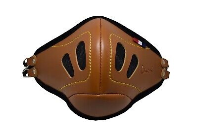 PU Leather Face Mask With Filter Pockets Handmade Designer Fashion - Tan • 4.95£