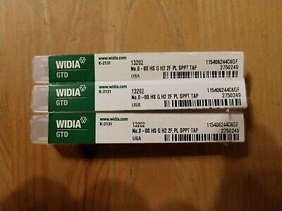 $25 • Buy WIDIA 13202 - #0-80 Spiral Point Tap,Overall Length 1 5/8 In, HSS-E - 3 PCS