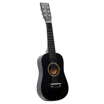 New 23  Plywood 15 Frets Acoustic Guitar Black W/ 6 String For Children Kids • 11.69£