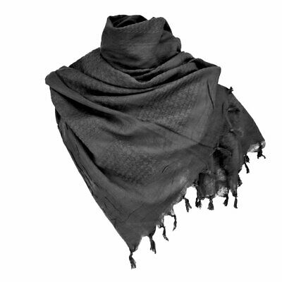 £8.90 • Buy Shemagh Scarf Combat Army Style Camping Sport Neck Warmer Keffiyeh Scarves Black