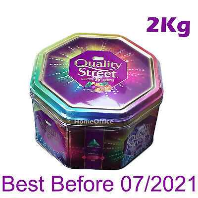 Large Tin Of Nestle Quality Street Sharing Chocolates 2Kg BB 08/2021 Sweets • 19.85£
