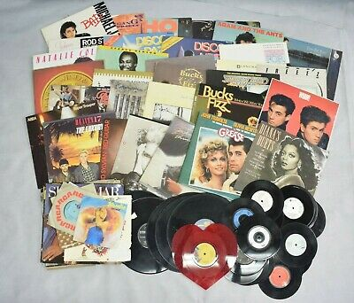 Job Lot Old Vinyl Collection Total 81 Records 12'' & 7'' Madonna ABBA Heaven 17  • 34.40£