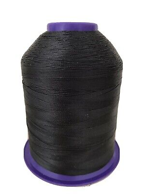 Black (D Grade) Whipping,Wrapping Thread 2000 Meter Spool Fishing Rod Repair • 16.99£