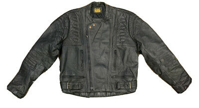 $55.25 • Buy VTG Protech Leather Men's Motorcycle Distressed Jacket Size Large